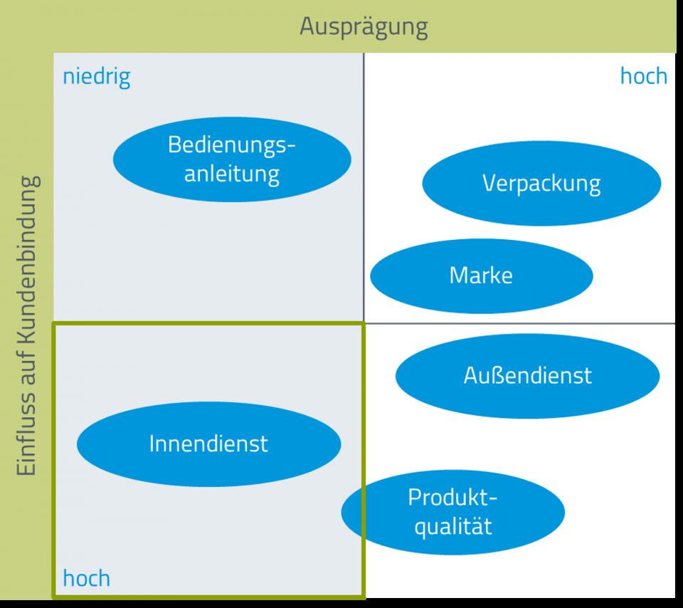CONSCIE-Analysematrix Marketingberatung auf Basis einer Kundenbefragung